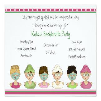 Invitación de los chicas del balneario