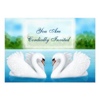 Invitación de los cisnes de los pájaros del amor