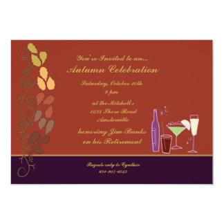 Invitación de los cócteles del otoño