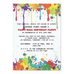 Invitación de los colores de Paintball