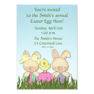 Invitación de los conejos de Pascua