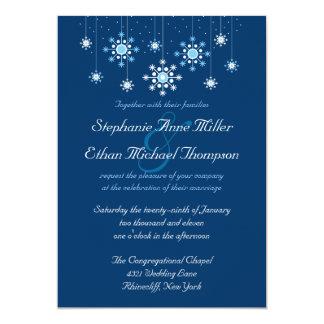 Invitación de los copos de nieve del boda del invitación 12,7 x 17,8 cm