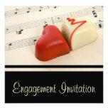 Invitación de los corazones del caramelo del fiest