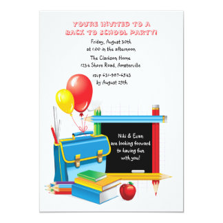 Invitación de los días escolares