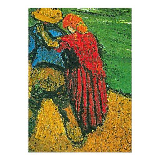 """Invitación de los """"dos amantes"""" de Van Gogh"""