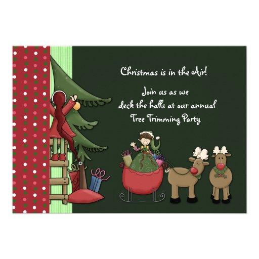 Invitación de los duendes del navidad