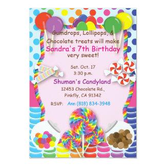 Invitación de los dulces de Candyland