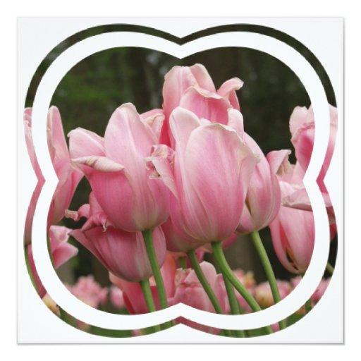 Invitación de los festivales del tulipán