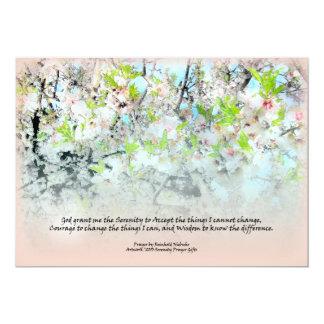 Invitación de los flores de Apple del rezo de la Invitación 12,7 X 17,8 Cm