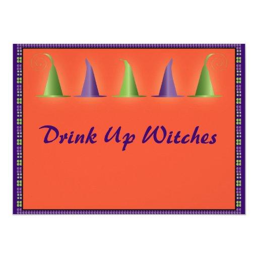 Invitación de los gorras de las brujas de