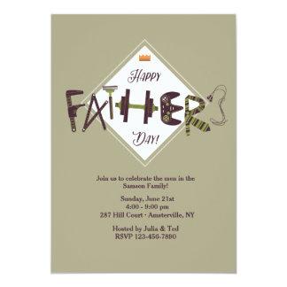 Invitación de los iconos del día de padre