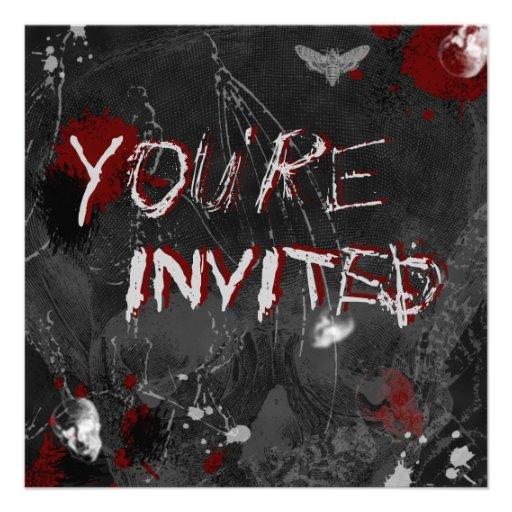 Invitación de los insectos y de los cráneos de Hal