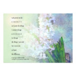 Invitación de los jacintos del rezo de la serenida