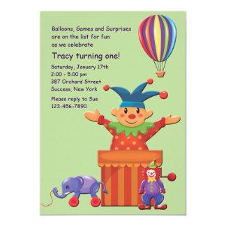 Invitación de los juguetes de los niños