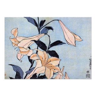 Invitación de los lirios de Katsushika Hokusai