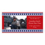 Invitación de los militares de las barras y estrel tarjetas fotográficas personalizadas