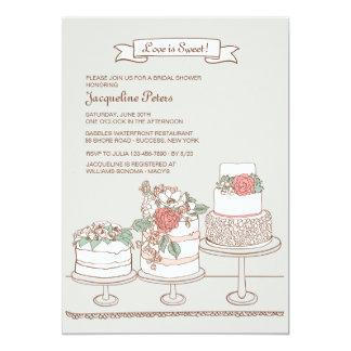 Invitación de los pasteles de bodas