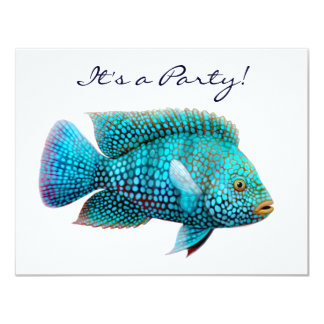Invitación de los pescados de Cichlid de Tejas