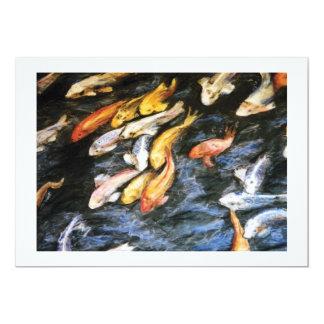 Invitación de los pescados de Koi