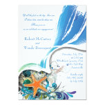 Invitación de los pescados de la estrella invitación 12,7 x 17,8 cm