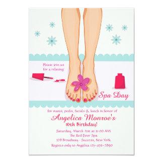 Invitación de los pies de Pedicured