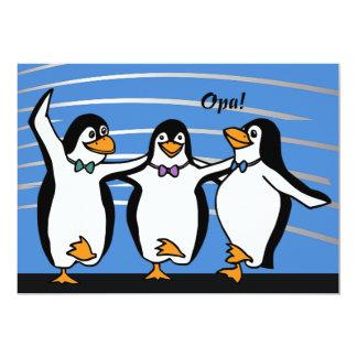 Invitación de los pingüinos del baile