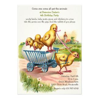 Invitación de los polluelos de la primavera