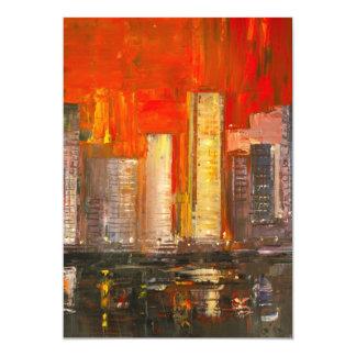 Invitación de los rascacielos de Nueva York