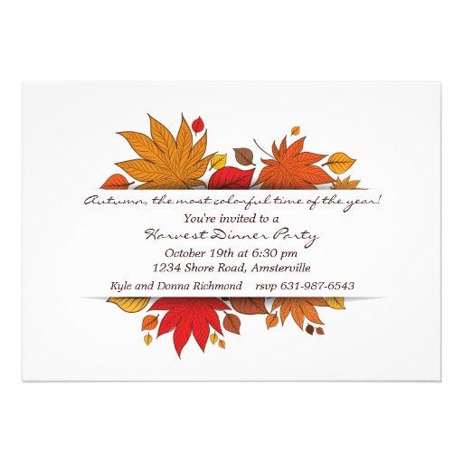 Invitación de los regalos del otoño