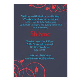 Invitación de los remolinos del azul y del rojo