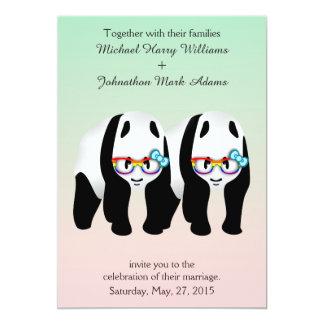 Invitación de los vidrios del arco iris gay lindo