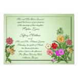 Invitación de los Wildflowers Invitación 12,7 X 17,8 Cm