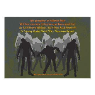 Invitación de los zombis que camina