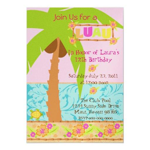 Invitación de Luau