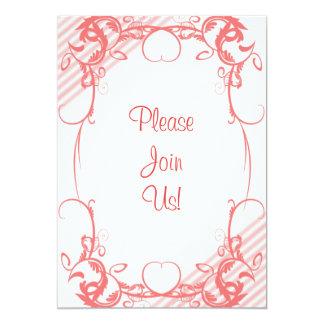 Invitación de lujo coralina del boda