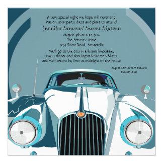Invitación de lujo de la limusina