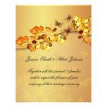 Invitación de lujo del boda de la mariposa del oto