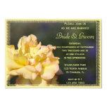 Invitación de lujo del boda del rosa amarillo invitación 12,7 x 17,8 cm