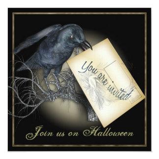 Invitación de lujo del fiesta del cuervo negro
