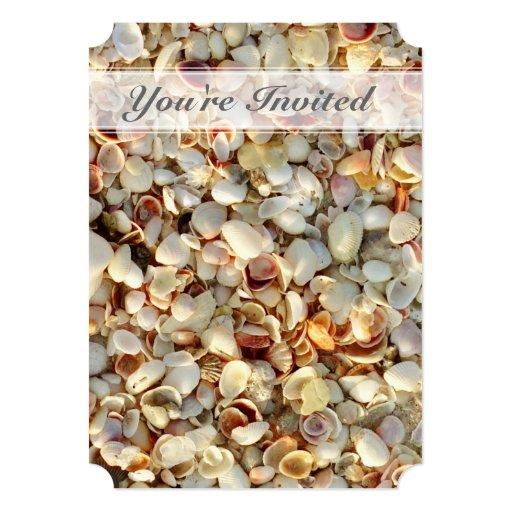 Invitación de lujo del Seashell