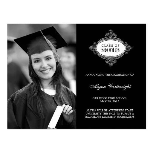 Invitación de lujo /Invite de la graduación del se Tarjetas Postales