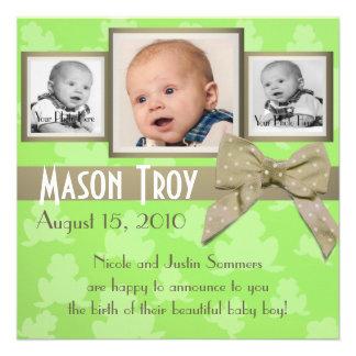 Invitación de lúpulo de la foto del bebé
