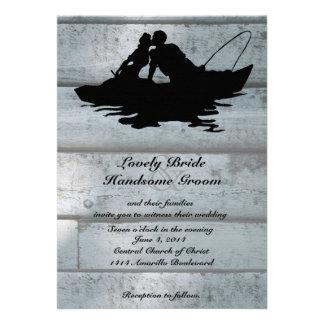 Invitación de madera del boda del barco de los ama