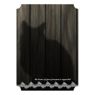 Invitación de madera del boda del gato de la invitación 12,7 x 17,8 cm