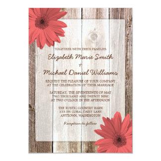 Invitación de madera del boda del granero rústico