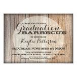 Invitación de madera del fiesta del graduado del