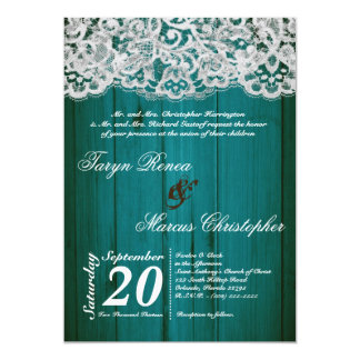 invitación de madera del trullo 5x7 y del boda del