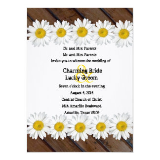 Invitación de madera inclinada del boda de la