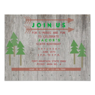 Invitación de madera rústica invitación 10,8 x 13,9 cm