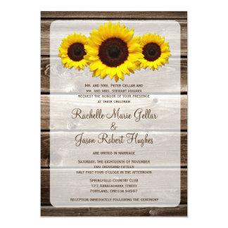 Invitación de madera rústica 1,0 del boda del
